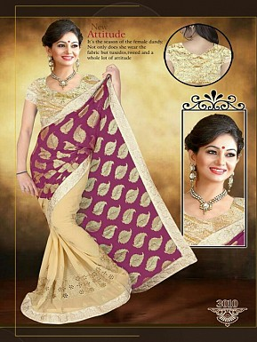 Red  Bit & Golden Sarees @ Rs1853.00