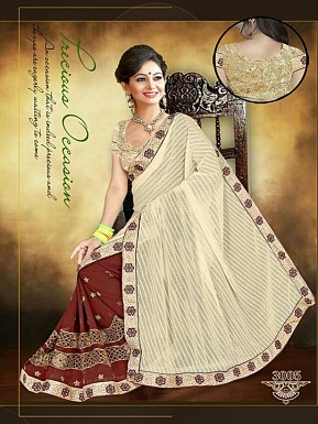 New Brown & Golden Sarees@ Rs.1853.00