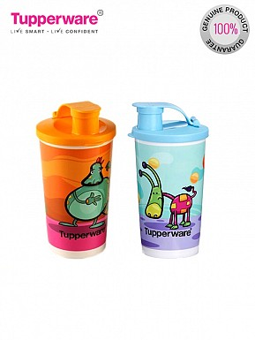 Tupperware Printed Tumbler With Sipper Seal 350 ml Water Bottles @ Rs538.00