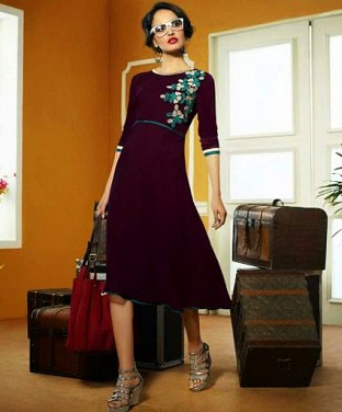 Indo Western Georgette Dress @ Rs1338.00