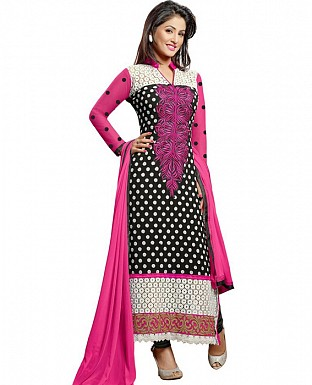 Black And Pinkcolor party were anarkali suit @ Rs915.00