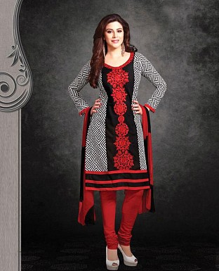 Printed Cotton Suit with Dupatta Buy Rs.399.00