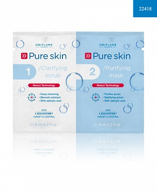 Pure Skin 1 Clarifying Scrub 2 Purifying Mask 12ml @ Rs113.00