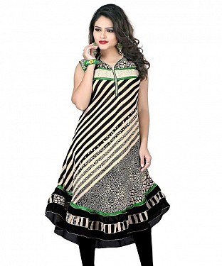 Black Georgette Printed Kurti @ Rs679.00