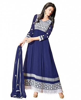 Blue color designer Anarkali suit @ Rs1029.00