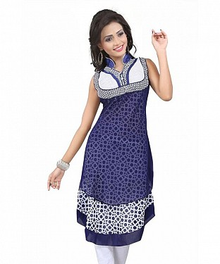 Blue Georgette Printed Kurti @ Rs741.00