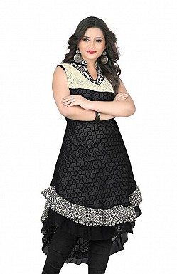 Black Georgette Printed Kurti @ Rs741.00