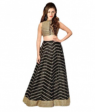 Fashion Book Black Designer Lehenga @ Rs3398.00