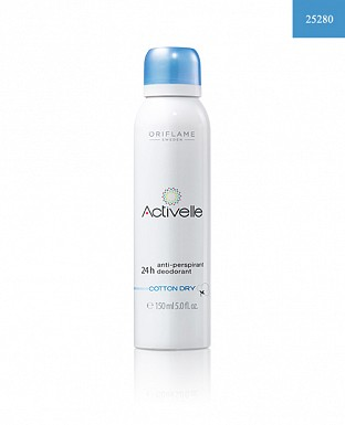 Activelle Anti-perspirant 24h Deodorant Cotton Dry 150ml @ Rs298.00