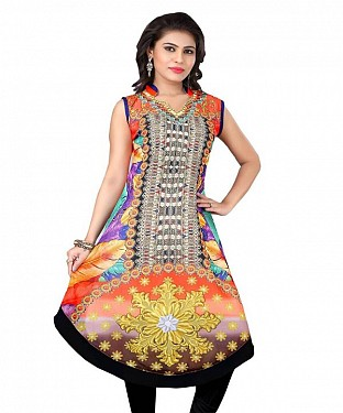 Multicolor Georgette Printed Kurti @ Rs803.00