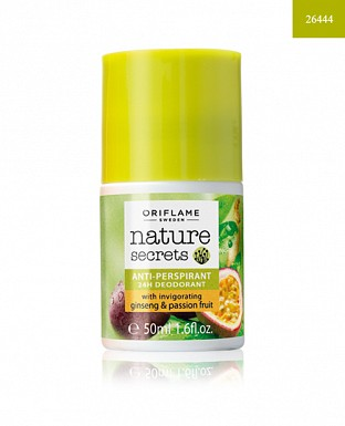 Nature Secrets Anti-perspirant 24h Deodorant with Invigorating Ginseng & Passion Fruit 50ml @ Rs148.00
