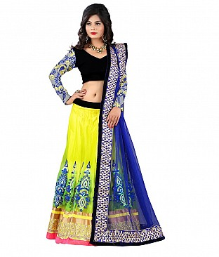 Omtex Fab Greenish Pedding Lehenga @ Rs4246.00