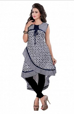 Panchi Blue Georgette Printed Stitched Kurti@ Rs.693.00