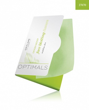 Optimals Oxygen Boost Face Blotting Tissues 50PCS@ Rs.205.00