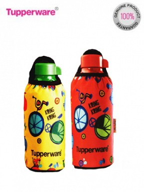 Tupperware Aquasafe Bottle, 500ml, Set of 2 (with His and Her Sleeves) @ Rs668.00