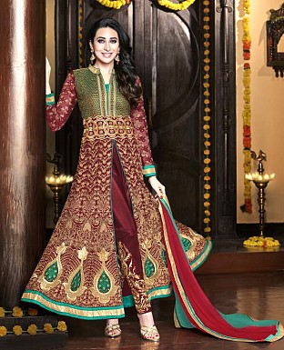 Heavy Embroidery Work Designer Georgette Suit with Dupatta@ Rs.2574.00