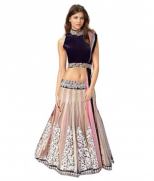 Tamanna Net Embroidered Unstitched Lehenga @ Rs3623.00