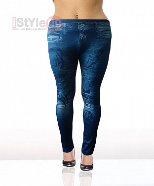 Denim Low Waist Leggings for Thin Women @ Rs438.00