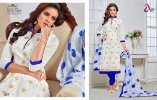 designer white colour salwar suit @ Rs1235.00