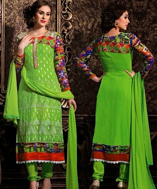 Latest Designers Semi Stitched Salwar Suits Buy Rs.2265.00