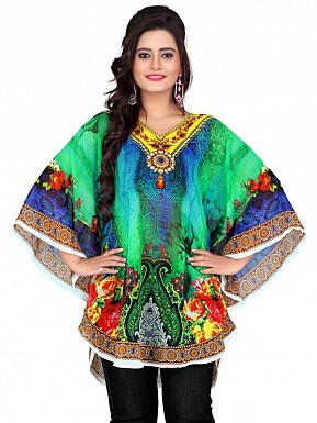 Printed Pure Georgette Kaftan @ Rs499.00