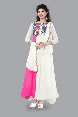 301007-fancy light pink and white anarkali suit @ Rs988.00