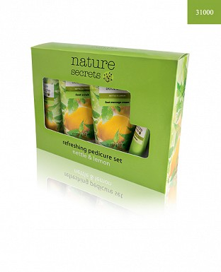Nature Secrets Refreshing Pedicure Set Nettle & Lemon 4pcs@ Rs.1205.00