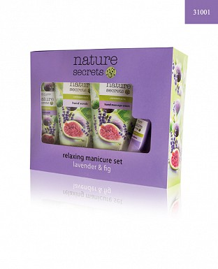 Nature Secrets Relaxing Manicure Set Lavender & Fig 4pcs @ Rs1205.00
