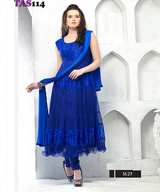 Thankar Fashionable Blue Designer Anarkali Suits @ Rs864.00