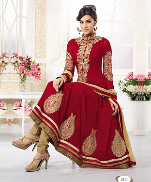 Thankar Kriti Senon New Red Designer Anarkali @ Rs926.00