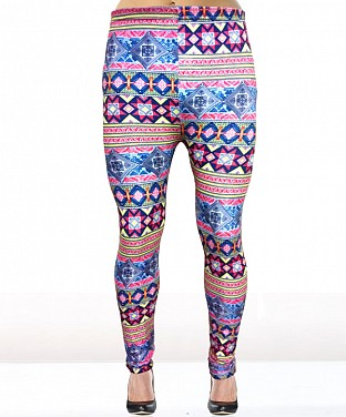 Stretchable Printed  Leggings @ Rs360.00