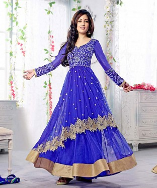 Thankar Fabulous Latest Heavy Designer Blue Anarkali Suits @ Rs1359.00