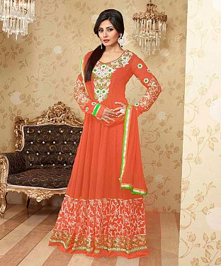 Thankar Fabulous Latest Heavy Designer Red Anarkali Suits @ Rs1482.00