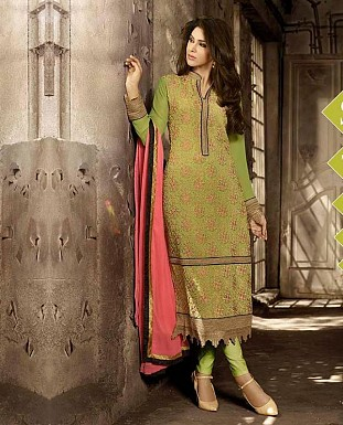 THANKAR LATEST EMBROIDERED DESIGNER PARROT STRAIGHT SUITS @ Rs2409.00