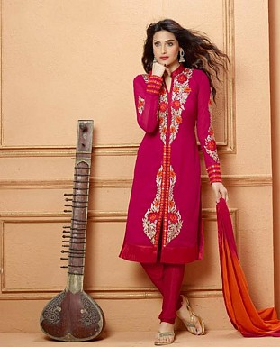THANKAR NEW DESIGNER PINK STRAIGHT SUIT @ Rs1853.00
