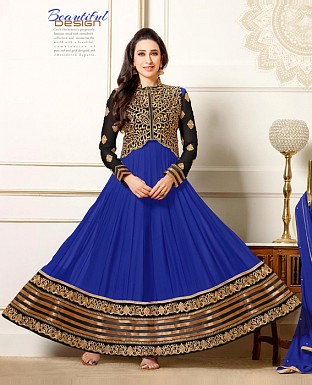 Karishma Blue anarkali suit @ Rs1322.00