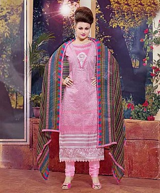 THANKAR NEW DESIGNER PINK STRAIGHT SUIT @ Rs1173.00