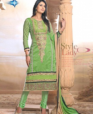 New arrival pista Embriodered salwar sui @ Rs1062.00