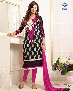 fancy black pink full work Salwar Suit @ Rs1051.00