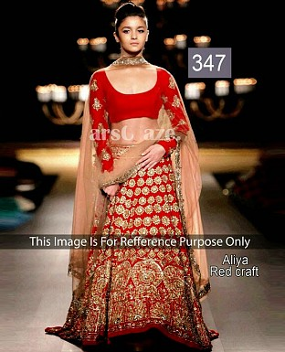 latest aliya fancy red lahnga choli @ Rs2287.00