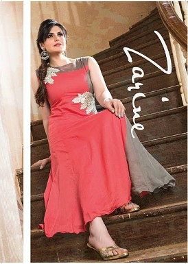 Pink And Grey Cotton Zarine Collection @ Rs593.00