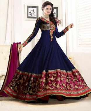 Ladli Blue Georgette Anarkali Suit @ Rs864.00
