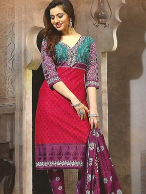 Desginer Cotton Suit with Dupatta @ Rs300.00