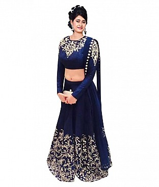 Fashion Book  Pure Georgette Semi Stitched Lehanga @ Rs2265.00