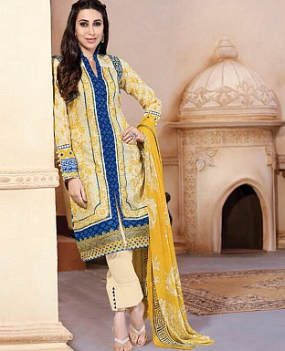 Embroidered Karachi Style Semi Lawn Suit @ Rs2059.00