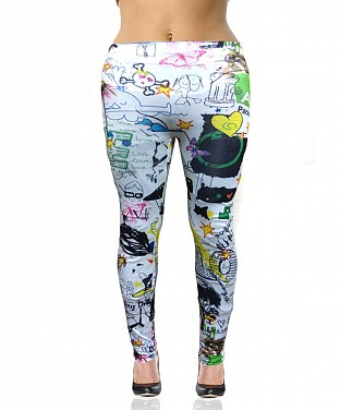 Stretchable Printed  Leggings@ Rs.360.00
