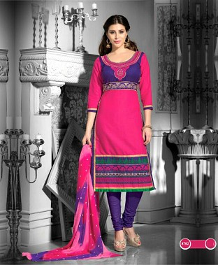 Embroidered  Designer Cotton Suit @ Rs857.00