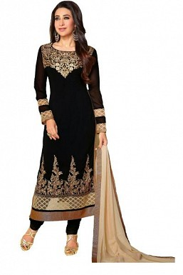 Lady Fashion Villa black designer salwar suit @ Rs927.00