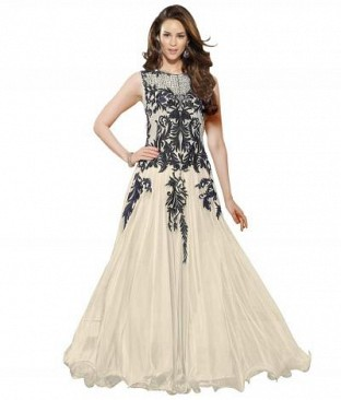 Lady Fashion Villa white designer salwar suit @ Rs927.00