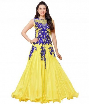 Lady Fashion Villa yellow designer salwar suit @ Rs927.00